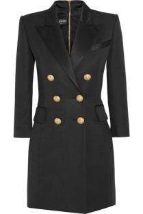 BALMAIN-Double-breasted-silk-satin-trimmed-basketweave-mini-dress-683x1024